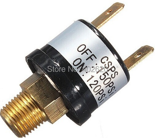 free shipping New 12V 3.5A Trumpet Train Horn Air Compressor Pressure Switch 120 to 150 PSI Pneumatic Parts купить