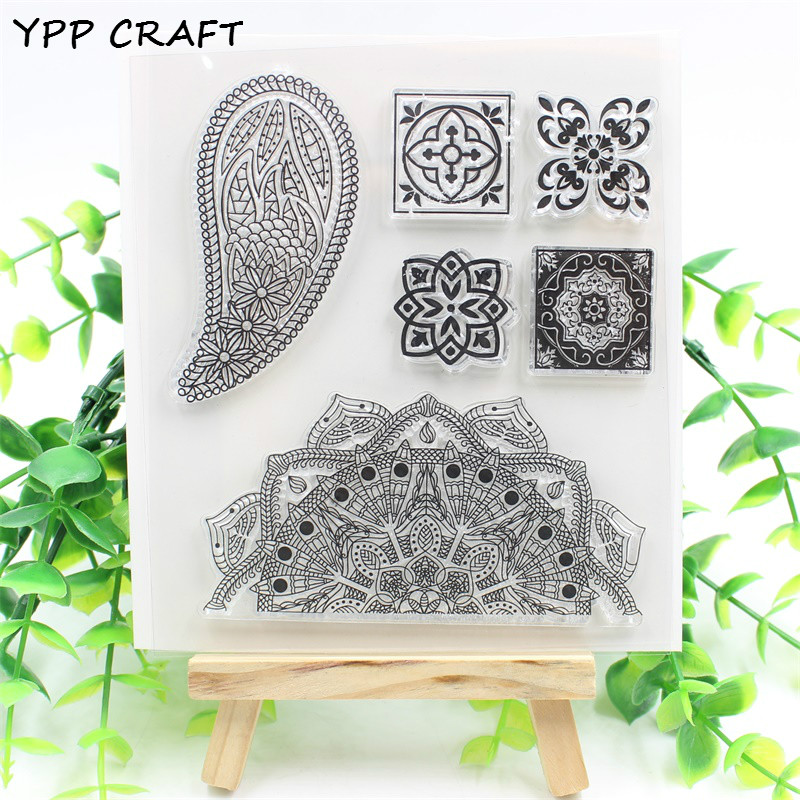 YPP CRAFT Floral Designs Transparent Clear Silicone Stamp/Seal for DIY scrapbooking/photo album Decorative clear stamp sheets lovely animals and ballon design transparent clear silicone stamp for diy scrapbooking photo album clear stamp cl 278