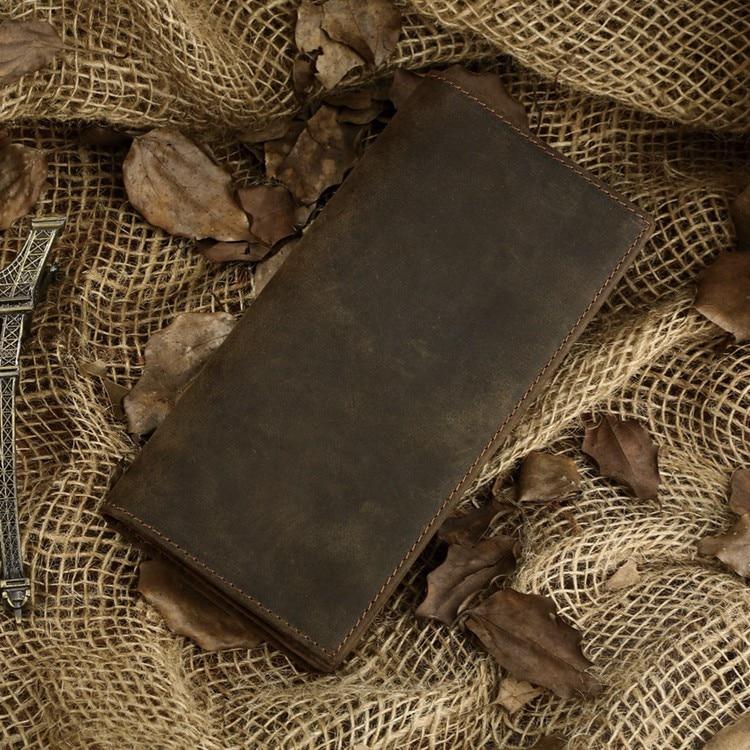 Vintage σπάνια τρελό δέρμα πορτοφολιών δέρματος πορτοφολιών άνδρας συμπλέκτης καρτών Ολόκληρη η τιμή καυτό! 8030R