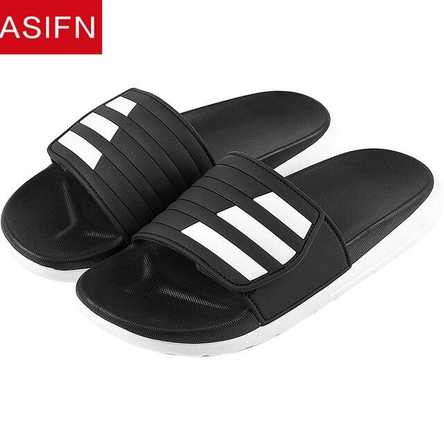 Chinelos Homens ASIFN Ginghan Desliza Homem Da Praia do Verão Masculino Fora Casal PVC Fundo Estilo Flip Flops Zapatos Hombre Casuais