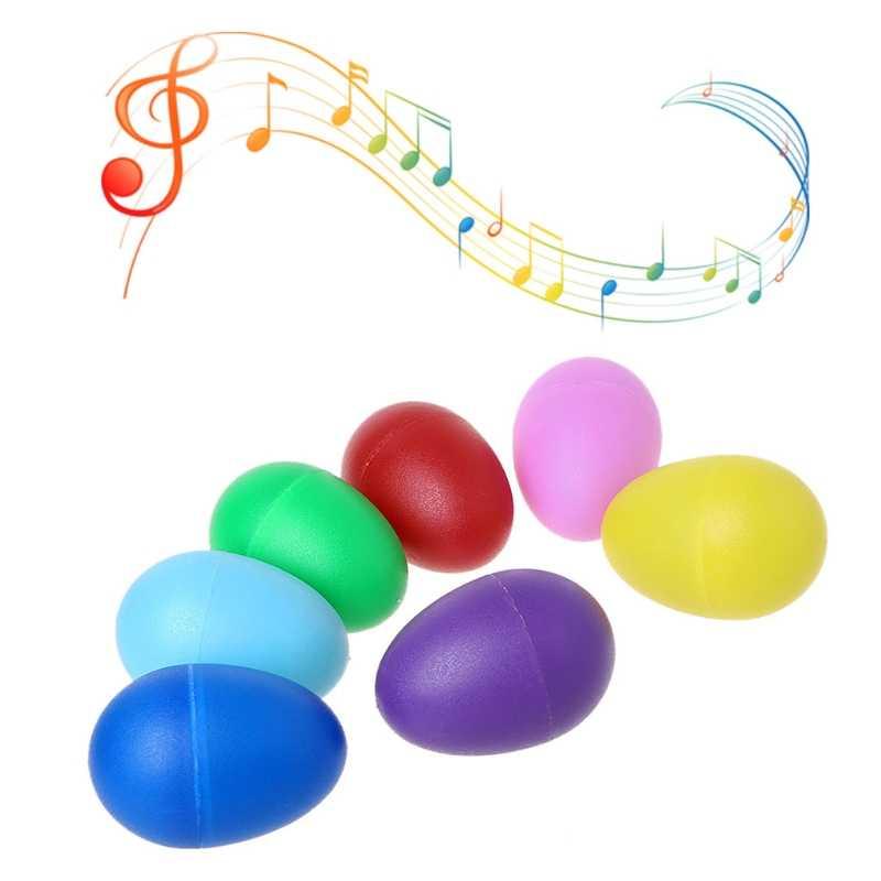 Plastik Pasir Telur Perkusi Alat Musik Awal Pendidikan Mainan Anak