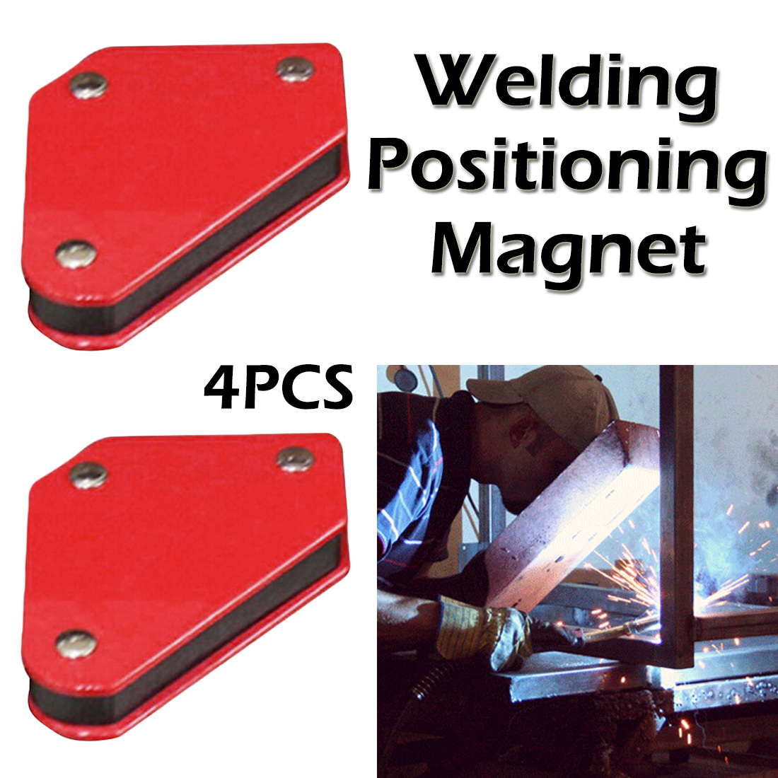 Power Tool Accessories 9LB Welding Locator Strong Magnet Welder Positioner 45 90 135 Soldering Fixture Magnetic Welding Holder