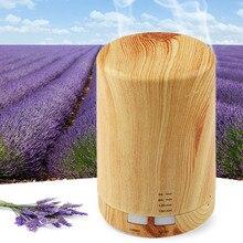 Automatic Aroma Diffuser + Humidifier + Night Light 3 in 1 Ultrasound Mini Silent Wood Grain Aromatherapy Machine Humidifier