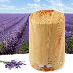 Image 1 - Automatic Aroma Diffuser + Humidifier + Night Light 3 in 1 Ultrasound Mini Silent Wood Grain Aromatherapy Machine Humidifier