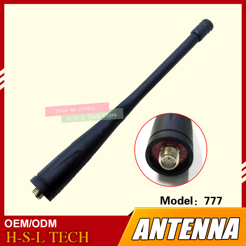 Walkie Talkie Rubber Antenna 400-470Mhz UHF Smafemale Interface For Baofeng BF777S BF-888S BF-666S Ronway F-22 F-25 F-26 CVS