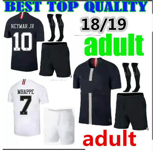 0295a9fa1 new 2018 2019 psg kit Paris CAVANI neymar jr shirts 18 19 adult kit psg  champions league Paris shirt