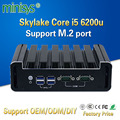 MINISYS low power consumption mini computer Skylake core i5 6200u processor support 4gb ram NUC fanless pc for business office
