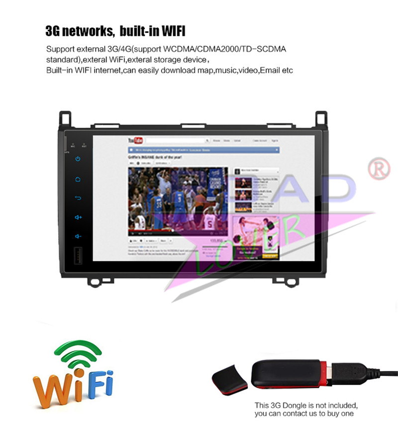 2 din android car radio For Benz B200 2009