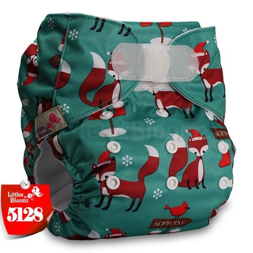 [Littles&Bloomz] Детские Моющиеся Многоразовые, настоящая стандартная ткань, застежка-липучка, карман для подгузников, пеленки, обертывание, подходит для рождения в горшке - Цвет: 5128