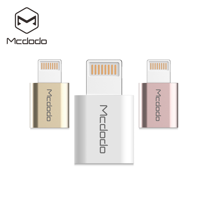 Mcdodo For Lightning Converter Lightning To Micro USB Adapter Charging  Adapter Data Trans For IPhone 11 Pro 8 7 6 Plus 5 IPad
