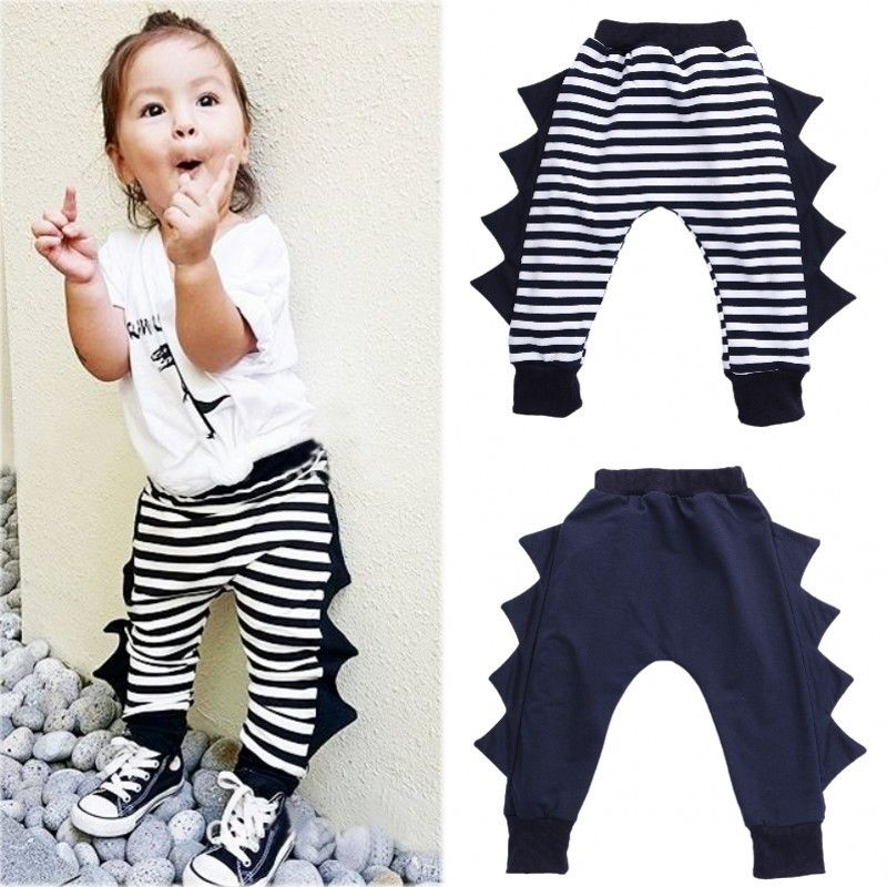 Kids Baby Boys Girls Printed Clothes Elastic Harem Pants Toddler Trousers 0-4Y