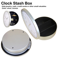 Home Security Creative Hidden Secret Storage Wall Clock Home Decoration Office Security Safe Container Clock