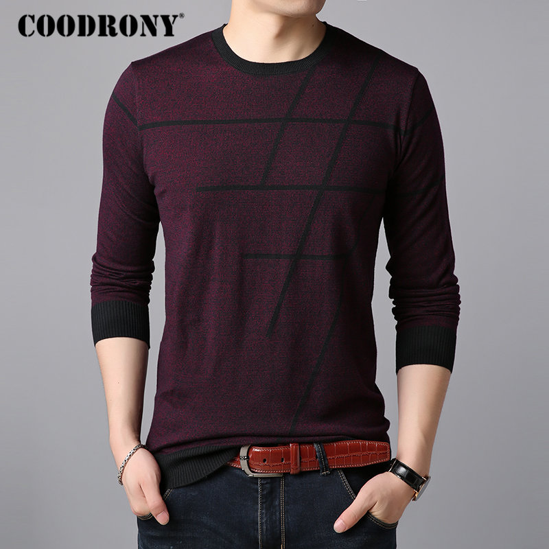 Image 3 - COODRONY Sweater Men Casual Striped O Neck Pullover Men Clothes 2018 Autumn New Arrivals Pull Homme Plus Size Thin Sweaters 8150-in Pullovers from Men's Clothing