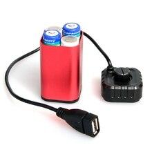 Chống Nước 5V USB Di Động 4X AA Pin Sạc Giá Đỡ Bộ Power Bank Case Hộp