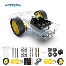 1 компл. Умный робот автомобиль 2WD мотор шасси/Трассировка автомобиля коробка комплект кодер скорости с двигателем постоянного тока батарейный блок для Arduino Diy Kit