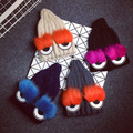 [CHICEVER] Winter Fur Eyes Knitted Hats Women New Fashion