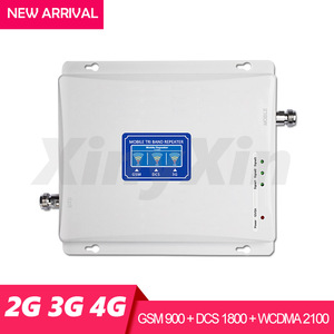 Image 2 - 2G 3G 4G Cellular Amplifier Mobile Signal Repeater GSM 900 WCDMA 2100 DCS LTE 1800 mhz Signal Booster Repeater Triple Band 70dB
