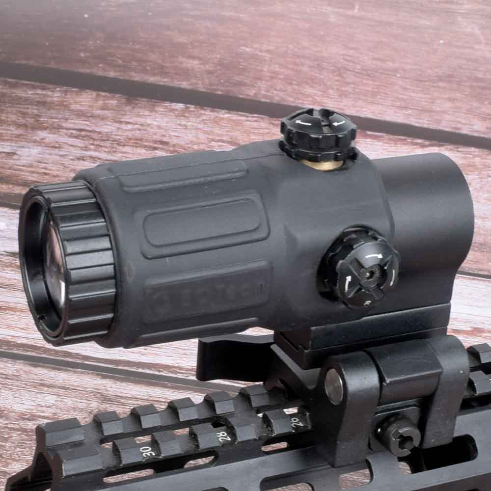 Hunting Sight G33 Airsoft 3X Magnifier With Switch To Side Quick Detachable QD Mount For Hunting Black Sand And Red Color