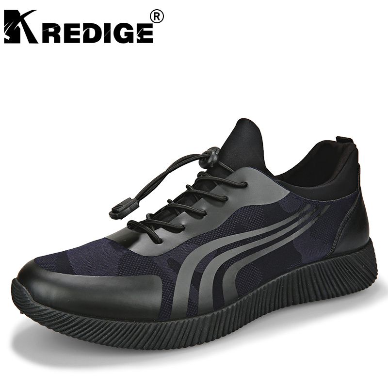 KREDIGE New Arrival Casual Men's Shoes Elastic Band Breathable Light Plate Shoes Anti-Odor Printed Canvas Shoes Super Soft 39-44 kredige anti odor zip tide leather shoes hard wearing mens casual shoes pu breathable waterproof plate shoes british style 39 44