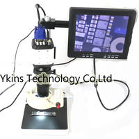 14MP HDMI Microscope Camera + 130X C Bayonet Lens for Industrial Lab PCB USB Output TF Card Recorder