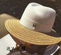 Summer 2016 m patchwork strawhat woolen fedoras sunbonnet sunscreen female hat raffia