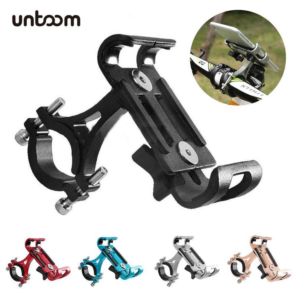 Aluminium Alloy Bike Phone Holder For 3.5-6.5 Inch Smartphone Bicycle Motorcycle Phone Mount Bracket For IPhone Samsung Xiaomi