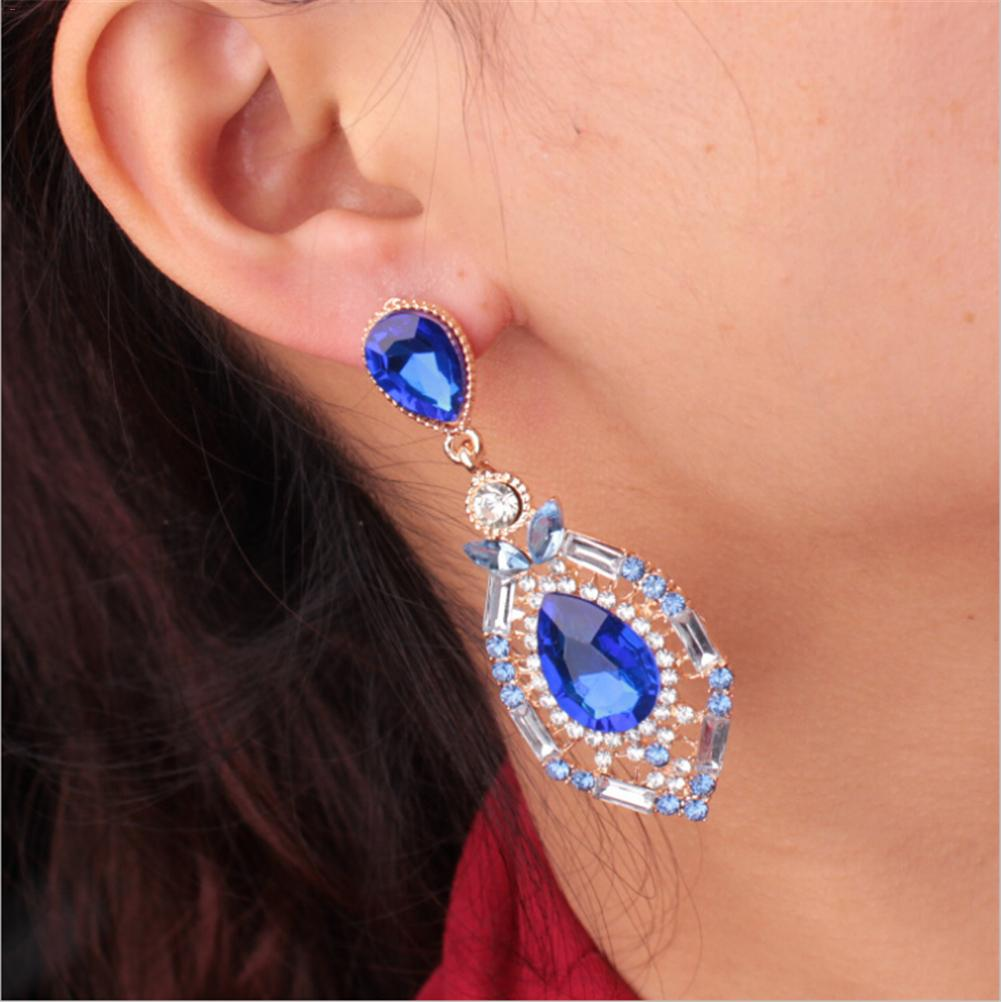 2018 Brand Jewelry Water Drop Luxury Austrian Crystal Earrings For Women Godl For Women Eardrop Earrings For Girls Gift