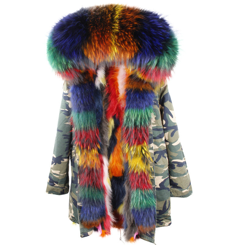 D'hiver Manteau Long Veste Fourrure 6 Nouvelle Collier Vestes color 1 Laveur Raton De Réel color color Parka Chaud Naturel color Femmes 2018 Fox 5 Color Femme color 8 2 Doublé color 3 7 color 4 AwqnZAOY0