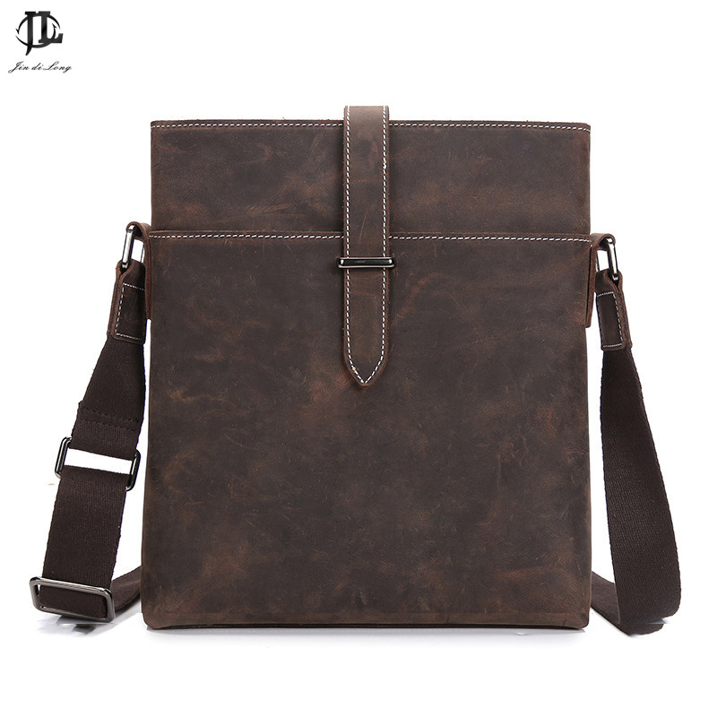 Genuine Leather Men Bags Hot Sale Male Small Messenger Bag Man Fashion Crossbody Shoulder Bag Men's Travel New Bags 0231 hot 2017 genuine leather bags men high quality messenger bags male small travel brown crossbody shoulder bag for men li 1996