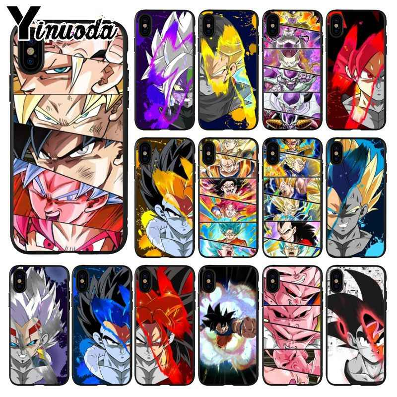 Yinuoda Dragon Ball Z Dbz Goku Tpu Black Phone Case Cover Shell For Apple Iphone 8 7 6 6s Plus X Xs Max 5 5s Se Xr Mobile Cases