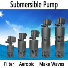 Mini 3 in 1 Multi-function Aquarium Filter & Submersible Pump , Aquarium Purifier Water Quality Tank Filter