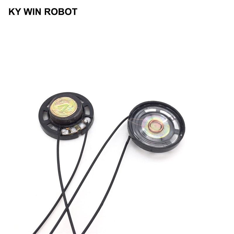 2pcs lot New Ultra thin Toy car horn 8 ohms 0 25 watt 0 25W 8R speaker Diameter 27MM 2 7CM With Wire in Acoustic Components from Electronic Components Supplies