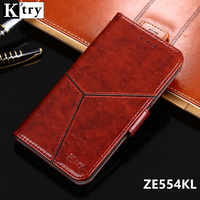 K'try For Asus Zenfone 4 ZE554KL Case Cover Luxury Leather Wallet Case For Asus ZE554KL Phone Cover Flip Style with Stand
