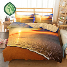 Bedding Set Sea Wave Print Duvet Cover Twin Queen King Lifelike Bedclothes With Pillowcase Bed Home Textiles 2 08