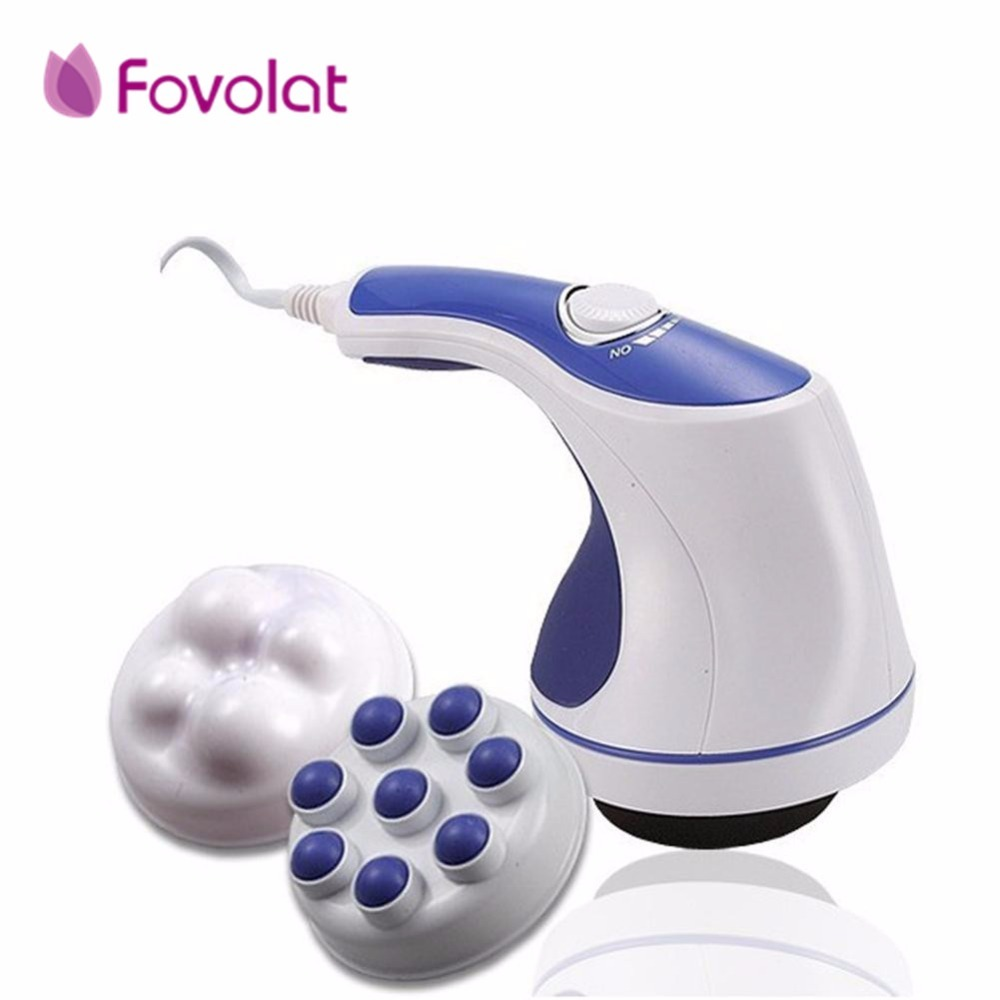 5 in 1 Full Relax Tone Spin Body Massager 3D Electric Full Body Slimming Massager Roller Cellulite Massaging Smarter Device full body embossing roller massage cellulite control roller massager thigh body slimming health beauty hand held wheel home use