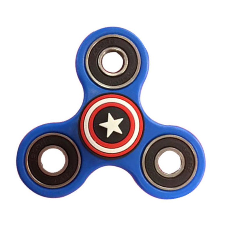 2017 High Quality Plastic EDC Spinner Fidgets Hand Spinner For Autism And ADHD Rotation Time Long Anti Stress Toys B0093