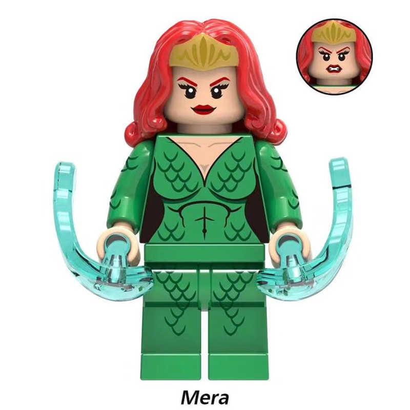Blocos de construção de Super Heróis Superman Aquaman Oceano Mestre Mera XH841 Reinado Coleção Modelo Brinquedos Para Crianças