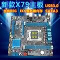 Nueva placa base de escritorio soporte ECC REG memoria del servidor X79 placa base Todo el sólido tableros