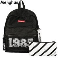 Menghuo Preppy Style Leisure Girl School Bags for Teenagers Backpack Set Women Travel Bags 3 Pcs/Set Rucksack Mochila Knapsack