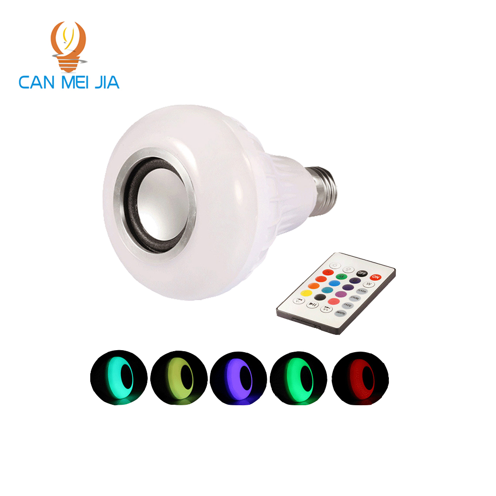 New Wireless Bluetooth Lamp Led E27 Bulb RGB Music Playing Dimmable Bulbs Lights Remote Control Leds Light Bulb