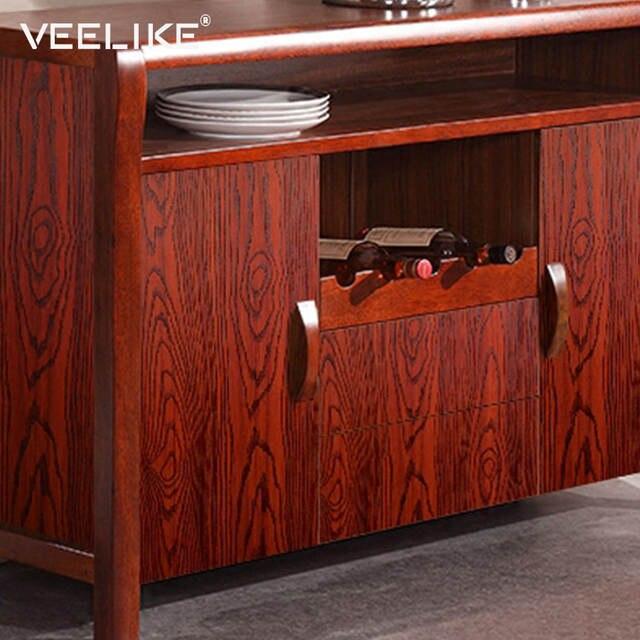 €11.78 40% de DESCUENTO Cocina armario puerta muebles madera vinilo  pegatinas dormitorio Sala papel tapiz PVC impermeable calcomanías  decoración del ...
