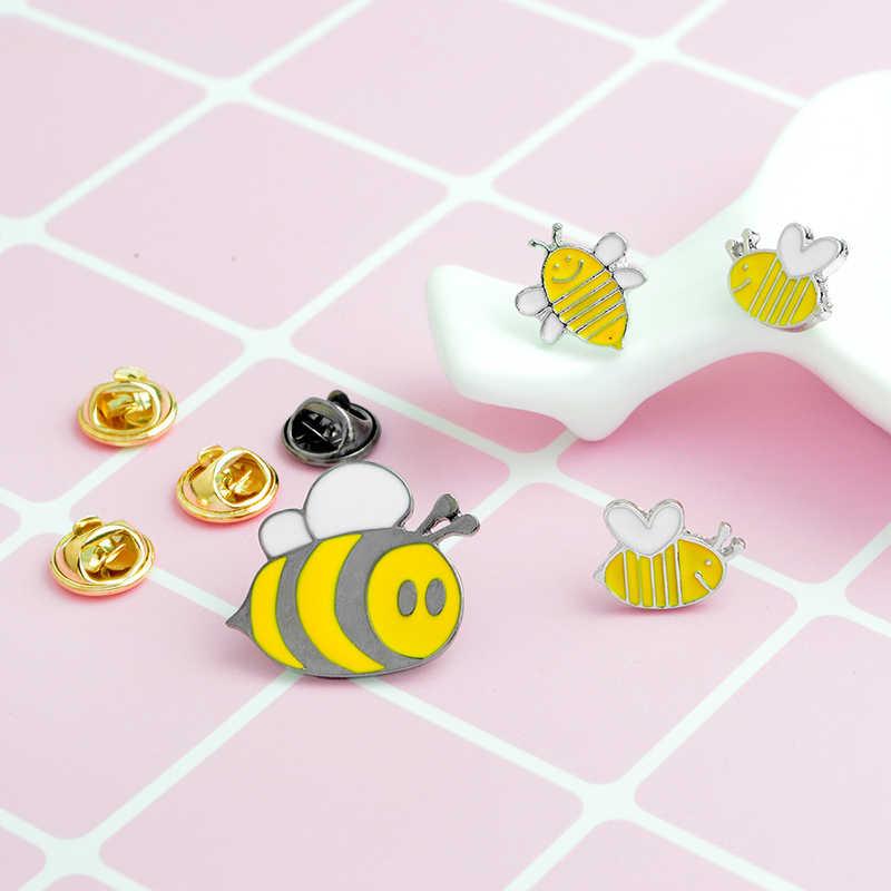 Qihe Jewelry Мёд пчелы семьи pin милый мультфильм Броши пчела значки жесткого контакта эмали deniam куртка рюкзак ювелирные изделия подарок для дети