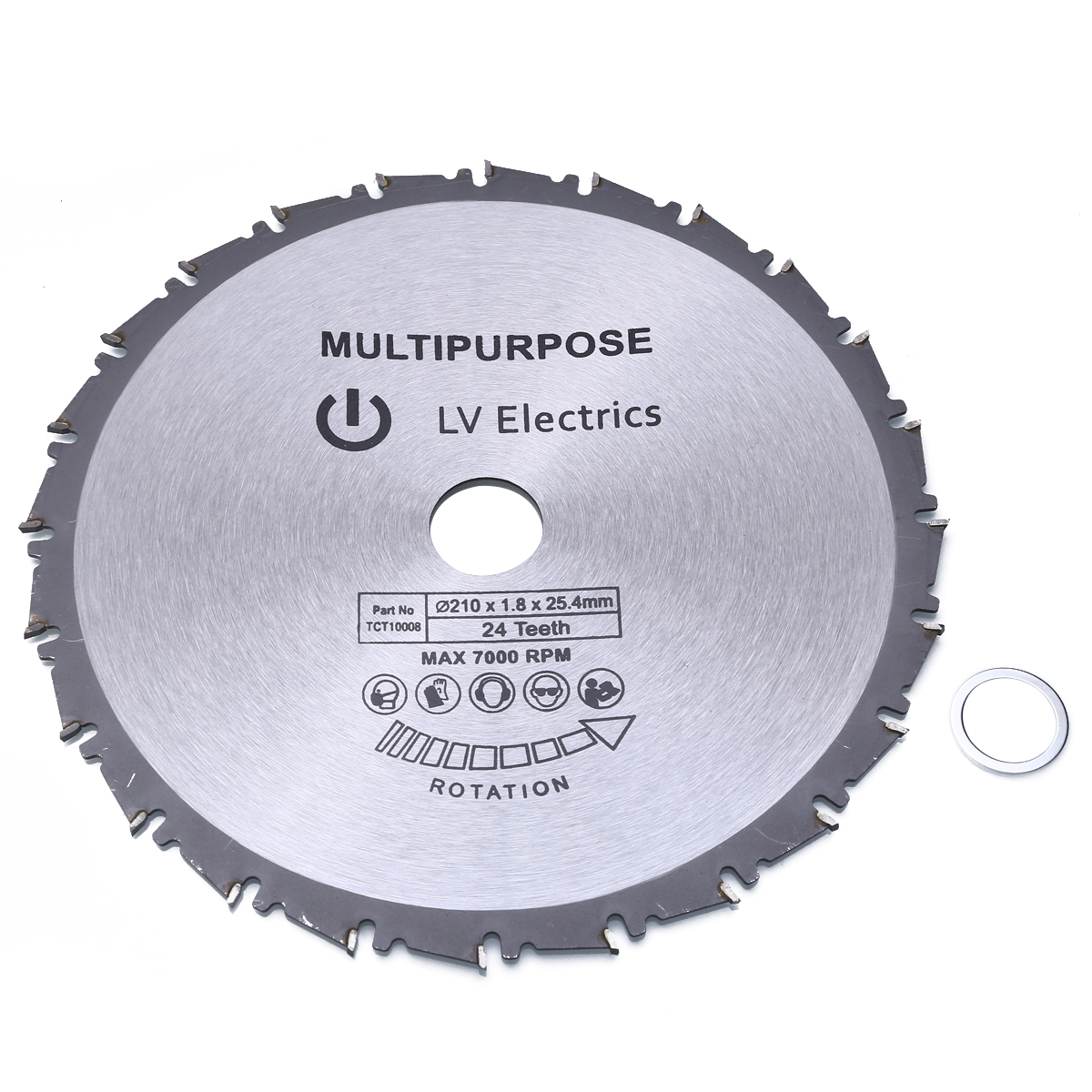 Mayitr 1pcs 210mm Wood Cutting Metal Circular Saw Blades For Tiles Ceramic Wood Aluminum Disc Diamond Cutting Blades