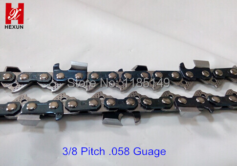Professional Chainsaw Chains /Full Chisel Chains 3/8 Pitch  .058 (1.5mm)Guage 100feet/Rolls Chain hot sale chainsaw chains 3 8 058 18 inch blade size 68dl best quality saw chains