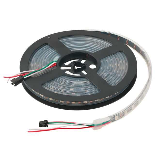 2017 WS2812B 5M 5050 SMD Digital 300 LED Strip Light Addressable Color DC5V Newest LED Light Strings