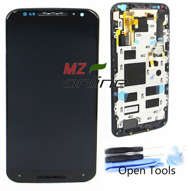 OEM LCD Screen For Motorola For Moto X+1 X2 XT1092 XT1095 XT1097 With Touch Screen Digitizer with Frame Black+Tools