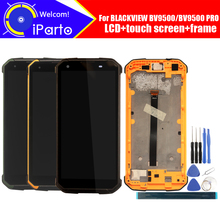BLACKVIEW BV9500 شاشة الكريستال السائل + محول الأرقام بشاشة تعمل بلمس + الإطار الجمعية 100% الأصلي LCD + اللمس محول الأرقام ل BLACKVIEW BV9500 برو