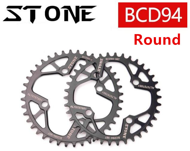 High Quality Stone Round 94BCD 32/34/36/38/40/42T Cycling Chainring MTB Bike Chainwheel Crankset Tooth Plate for NX GX X1 BCD 94 fouriers 7075 oval single chain ring 38t 40t 42t 44t 46t 48t chainrings bcd 104mm narrow wide tooth mtb bike chainwheel crank