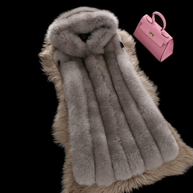 vera gilet cappotto donne volpe pelliccia 2017 di gilet BwfXqn5