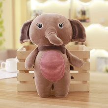 Cute Cartoon Animal Plush Toy Soft Down Cotton Elephant Rabbits Koala Stuffed Doll Newborn Sleeping Pillow Toys Kid(China)